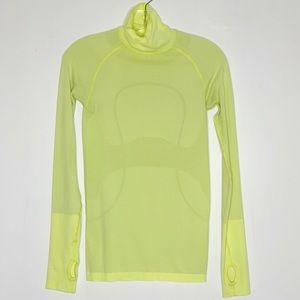 lululemon athletica Tops - LuluLemon Run Swiftly Yellow Turtleneck Top Size 4